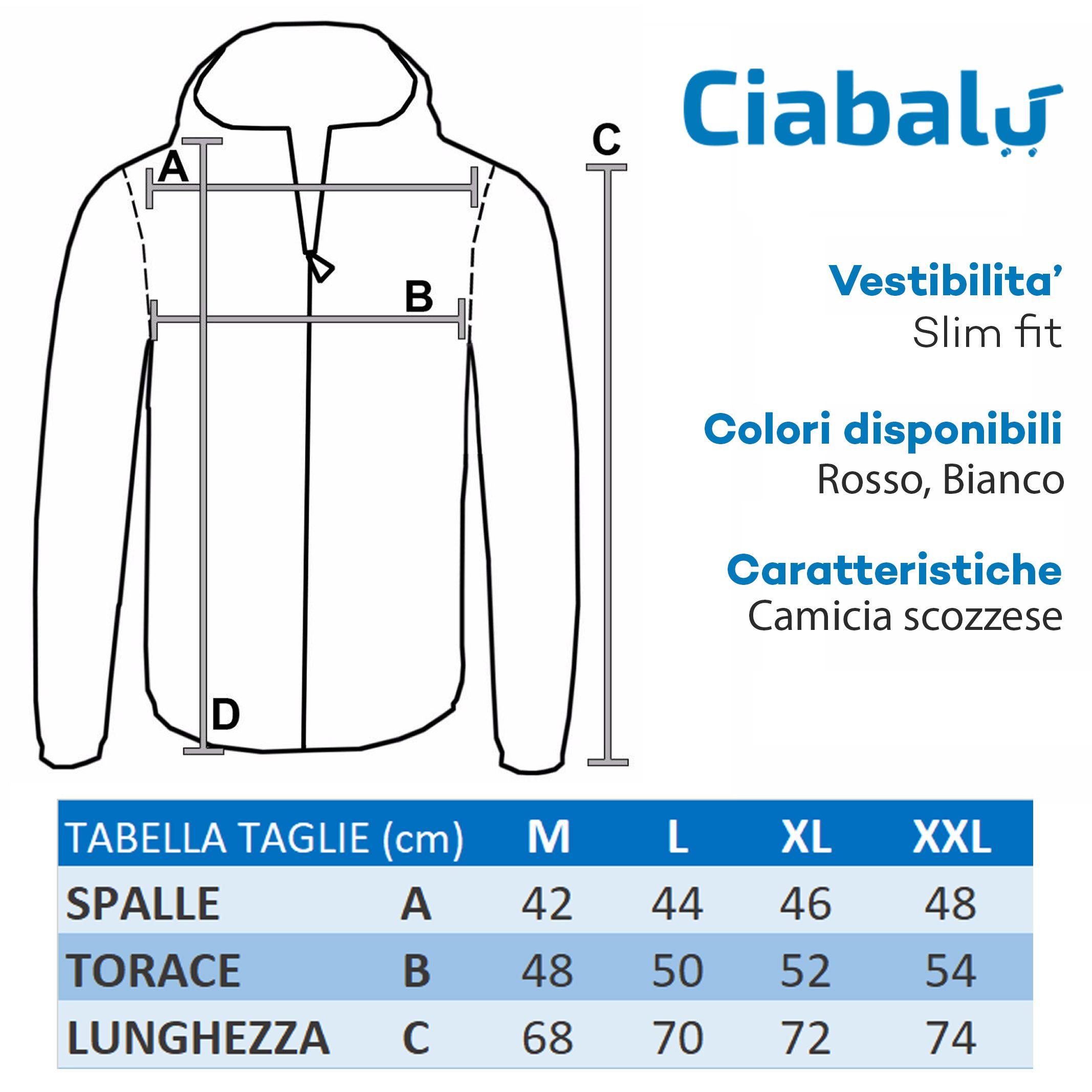 Camicia-Uomo-Cotone-Quadretti-Casual-Slim-Fit-Quadri-Scozzese-Manica-Lunga miniatura 2