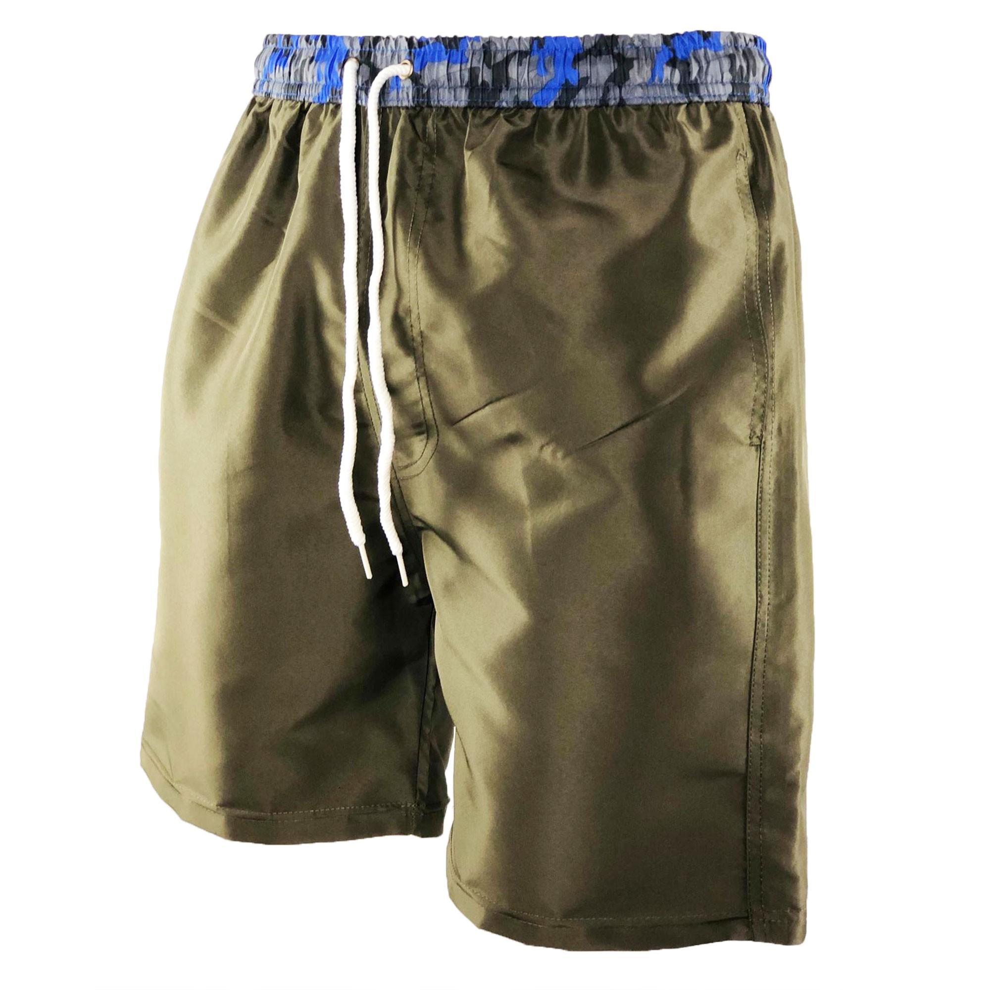 Costume-da-Bagno-Uomo-Boxer-Camouflage-Pantaloncino-Bermuda-Mare miniatura 27