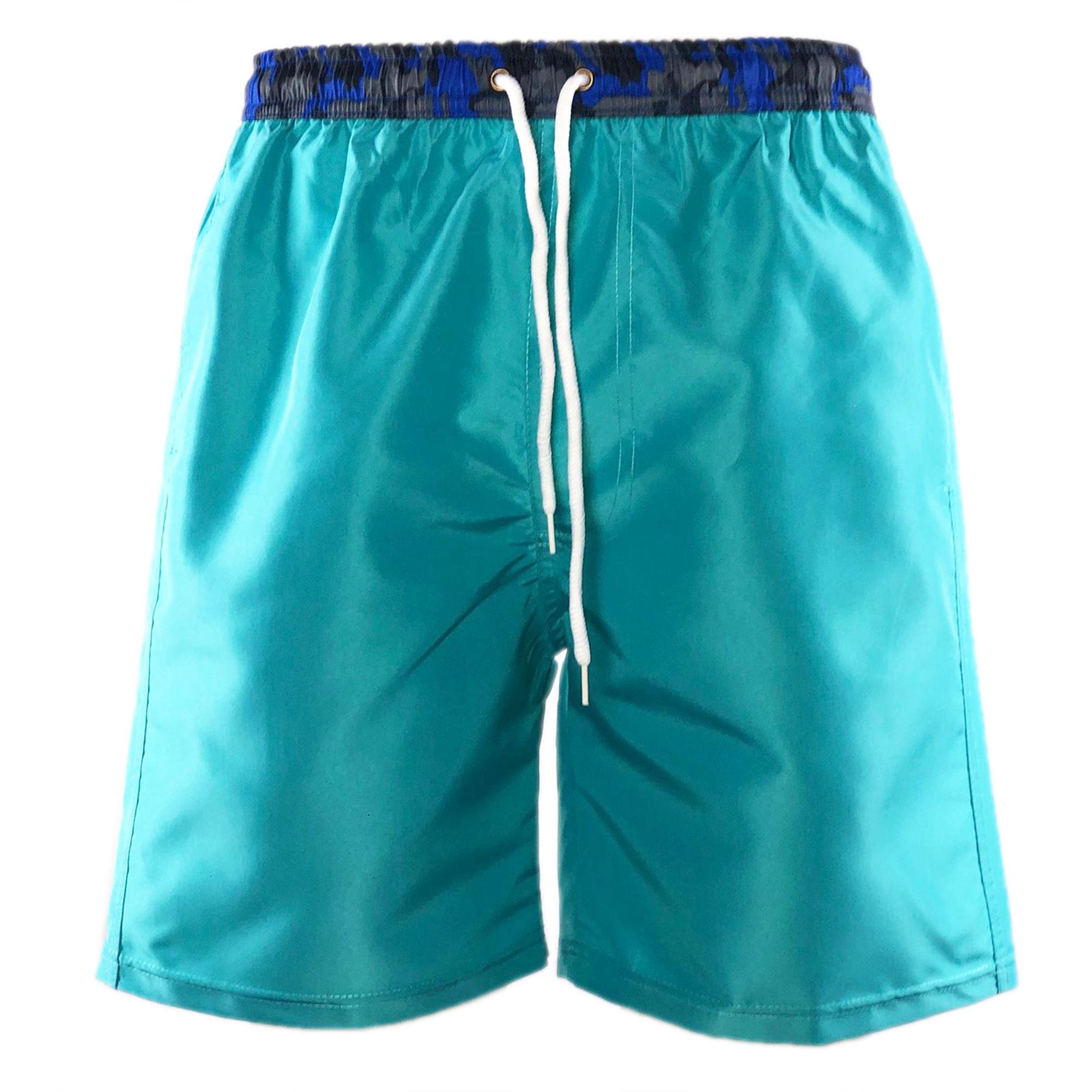 Costume-da-Bagno-Uomo-Lungo-Boxer-Celeste-Camouflage-Pantaloncino-Bermuda-Mare