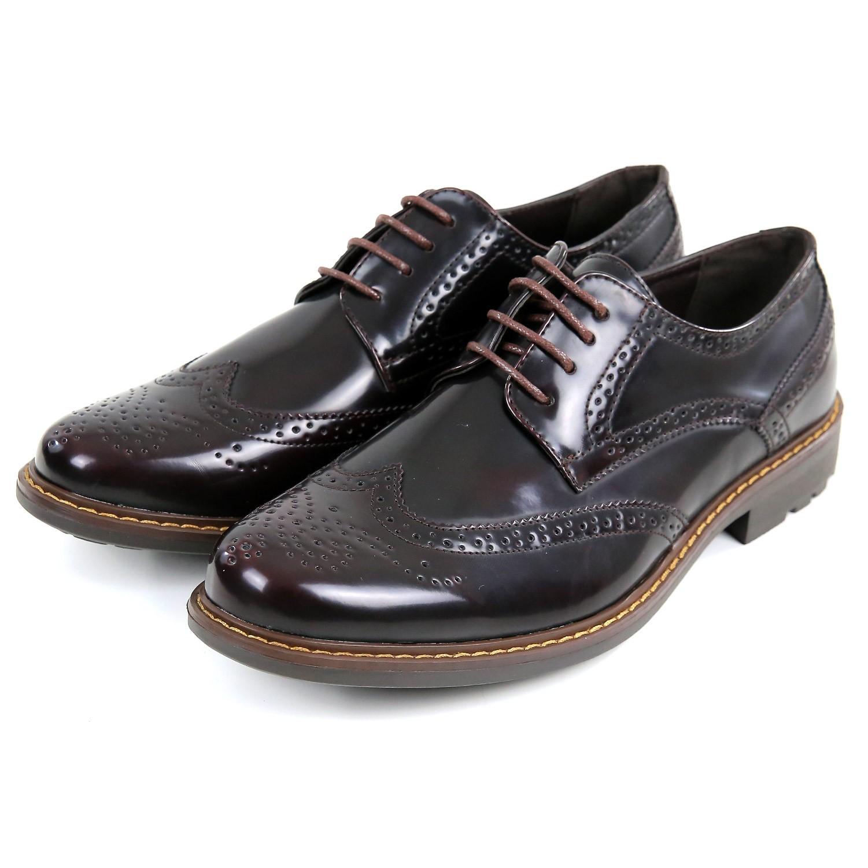 Scarpe-Inglesine-Uomo-Derby-Eleganti-Pelle-Bordeaux-Marroni-Francesine-Stringate