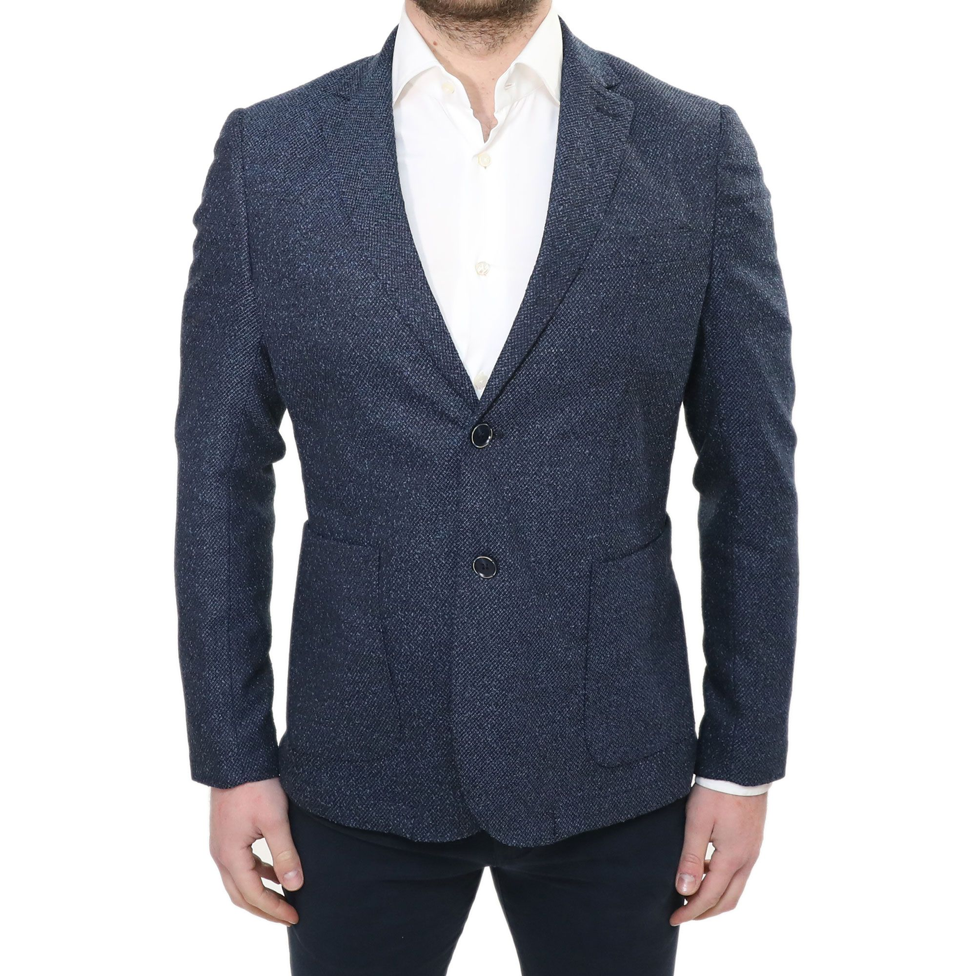 Giacca Blazer Uomo Slim Fit Elegante Invernale Blu Sartoriale In Lana  Sportivo bb4b536575e