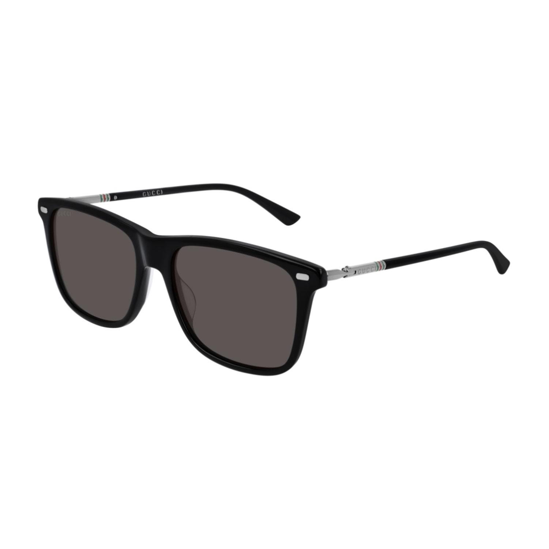 9910cab81149 Details about Sunglasses Men Gucci Web Gg0518s 001 Black Squared Square  Gray Cal 54