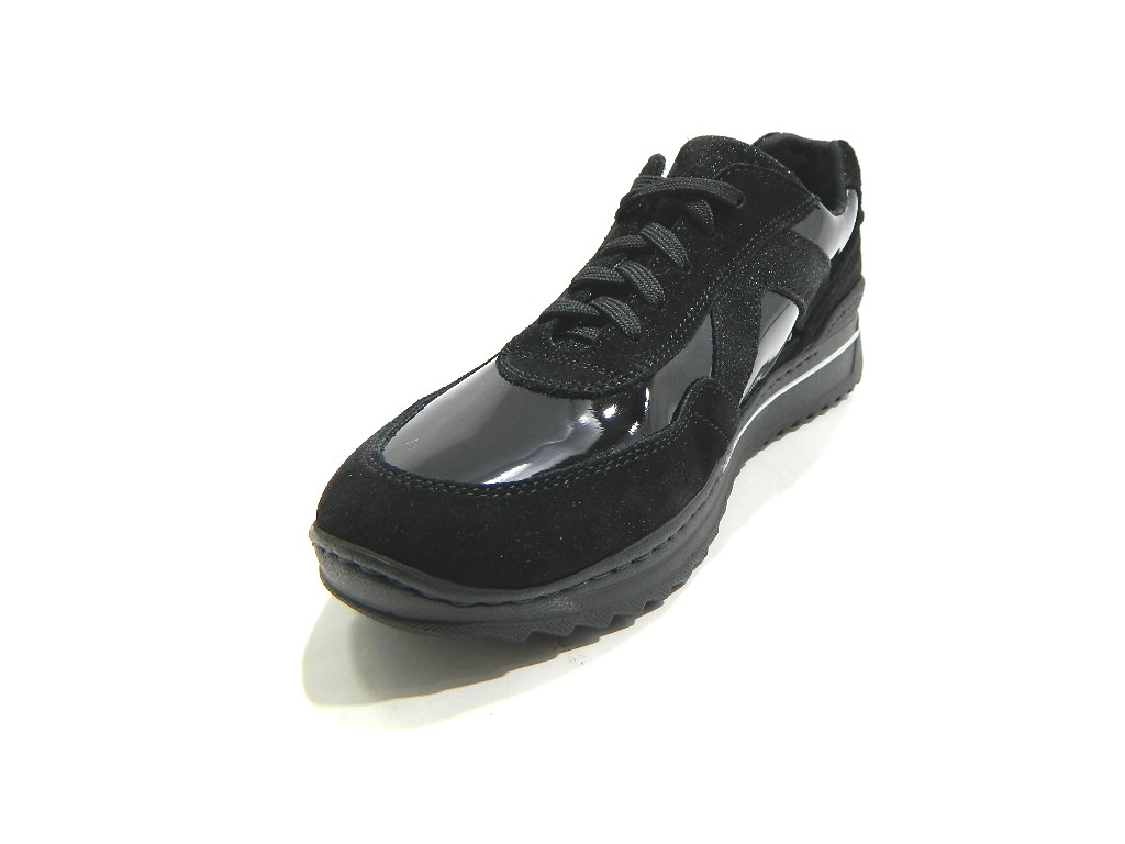 STILEDIVITA 7282 zapatillas mujer Stringate Ultra Suede Soft Suede Ultra Mix negro c9f70b
