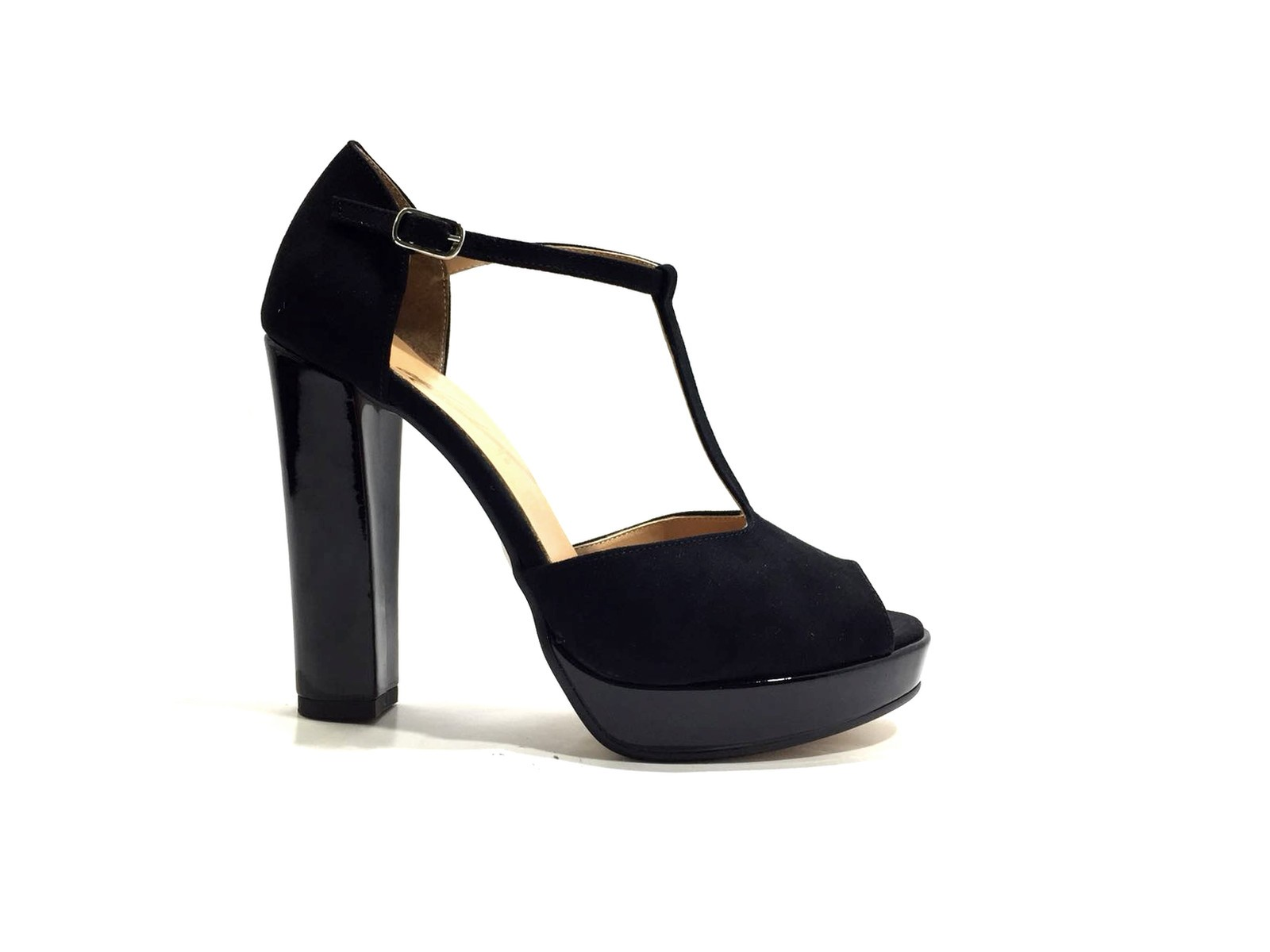 ADELE 162 zapatos mujer mujer mujer Sandali T Bar Tacco 12 negro  Hay más marcas de productos de alta calidad.