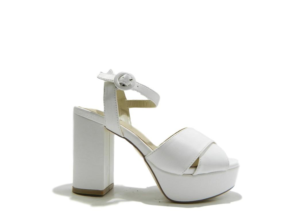 IKAROS 2813 zapatos mujer Sandali Tacco Alto Alto Alto Incrocio Bianco  salida de fábrica