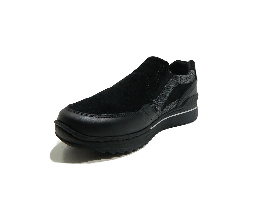 Femme Et Cuir Véritable Noir On Pour 7265 Chaussures Lifestyle Slip Mocassins Suede a4OIpFqx