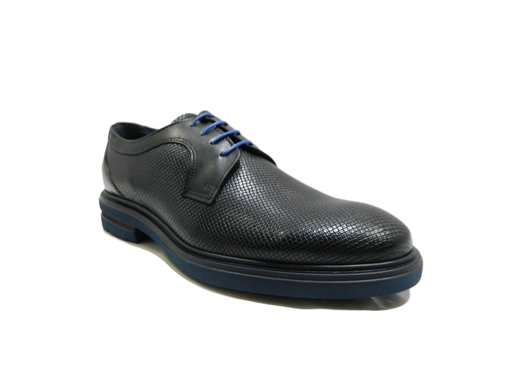 Stringate Luxury Nero Light Vera In Extra Si Amo Scarpe Pavè Uomo 7244a Pelle nHqXA
