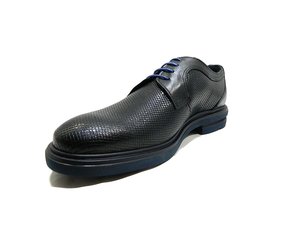 7244a Extra Vera Amo Luxury Stringate Pavè In Scarpe Si Nero Uomo Light Pelle qaAwxCx5