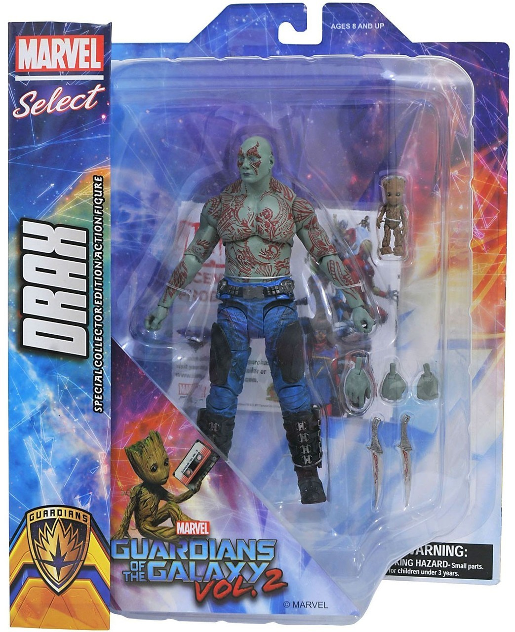 Marvel Select Action Figure Guardian Of The Galaxy 2 Drax Diamond Select