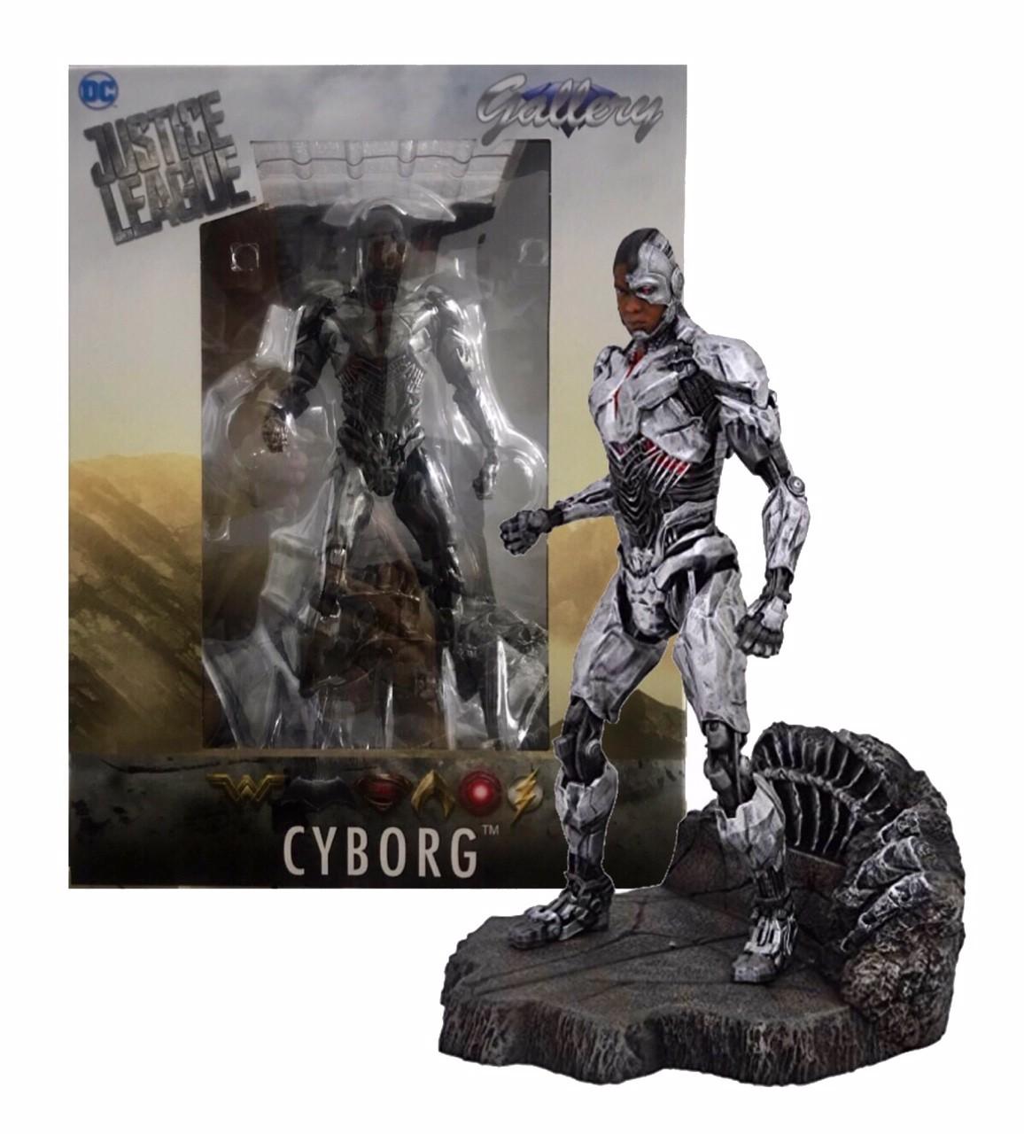 Justice League Movie Figure Cyborg Gallery Statue Diamond Select 22 Cm