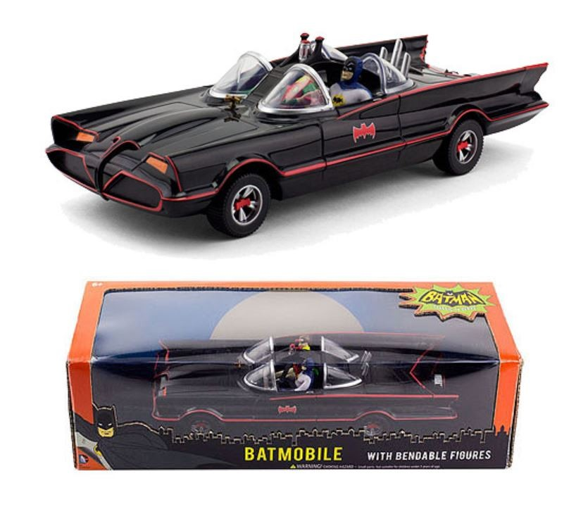 Batman Classic TV Series Batmobile Batman e Robin Mini Mini Mini Bendable Figure 01bd90