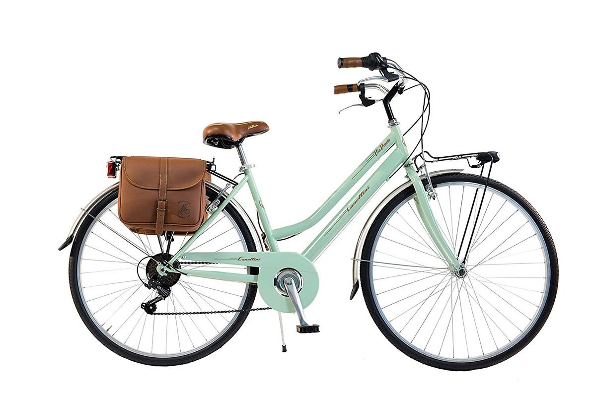 Bici Bicicletta Vintage Via Veneto By Canellini Retro Acciaio Donna Verde Chiaro