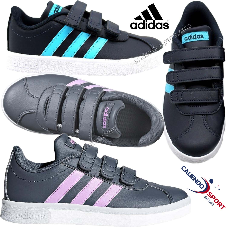 Vl 0 B75972 Blu Grigio B75973 Adidas 2 Cmf Bambino Court C Scarpa Bambina qx0fvH6wn