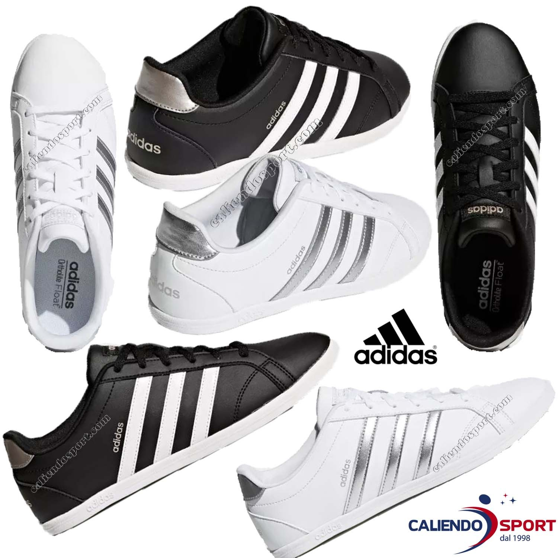 8c8eae937ec9a Chaussure Femme Adidas Vs Db0126 Db0135 Coneo Qt Noir Blanc Sport Salle De  Sport