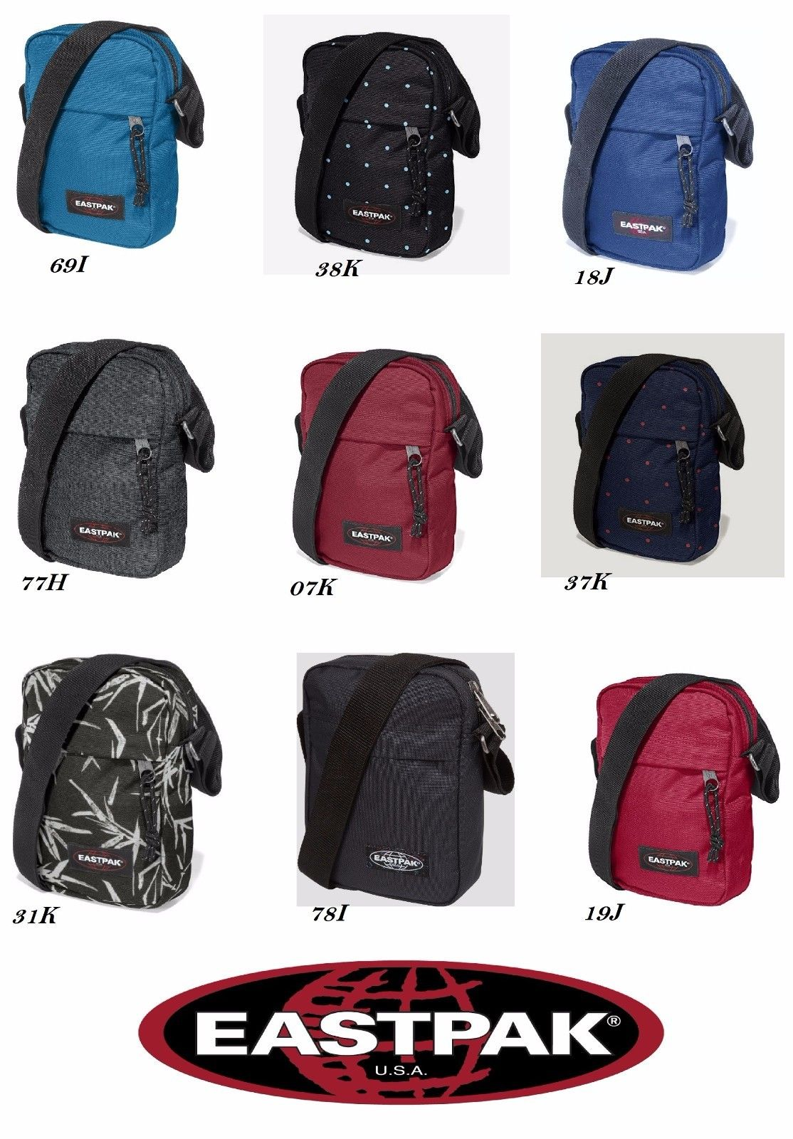 df14f87e93 Tracolla The One Eastpak Ek045 Portachiave Borsello Tempo Libero Unisex