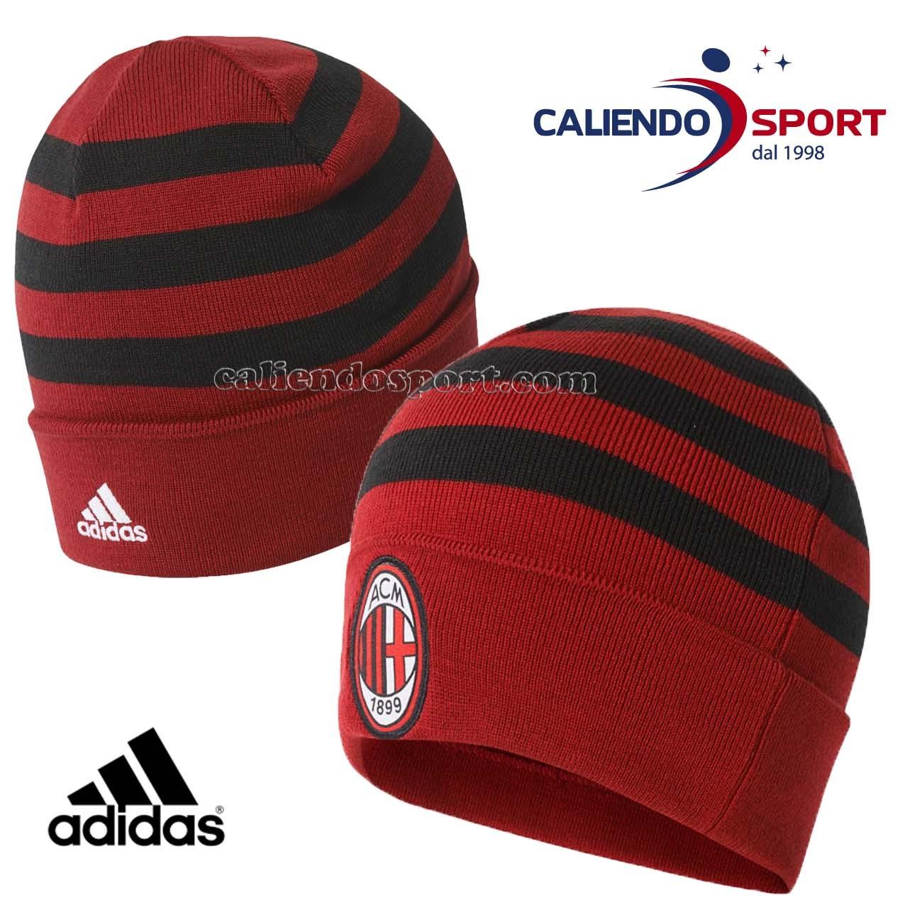 Cappello Ac Milan Adidas Rosso Nero Br7091 Acm 3S Woolie Calcio Unisex 0833a9366bea