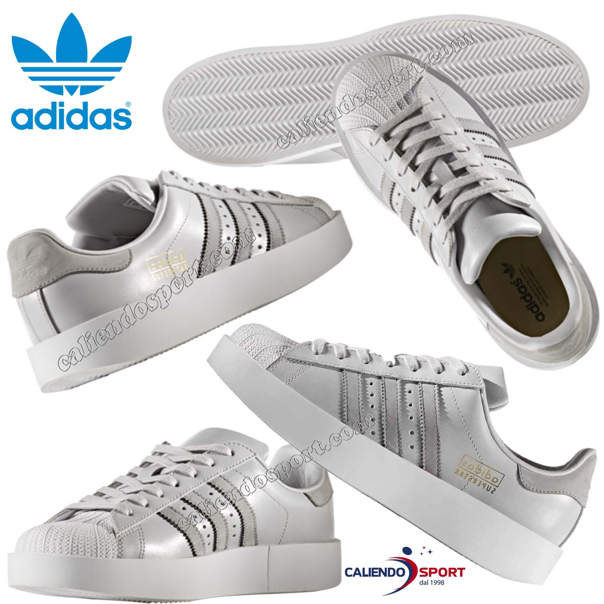d56ca44877f2 SHOE WOMAN ADIDAS SUPERSTAR CG3694 BOLD PLATFORM GREY WHITE SNEAKER ...