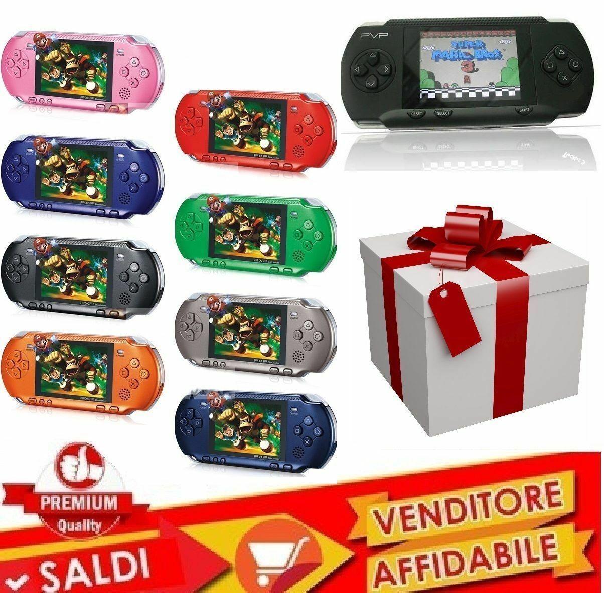 Console Portatile Pvp Videogioco Con Tantissimi Giochi Per Bambini Facsimile Ps