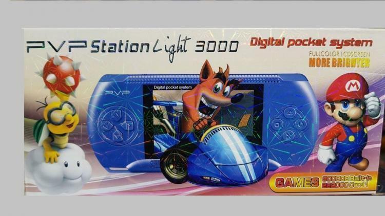 Console Portatile Pvp Videogioco Con Tantissimi Giochi Per Bambini Facsimile Ps 2