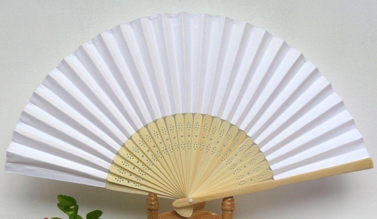 0 Ventagli Ventaglio Matrimonio Bambu Bamboo Carta Bianchi Sposa Wedding Carattere Aromatico E Gusto Gradevole