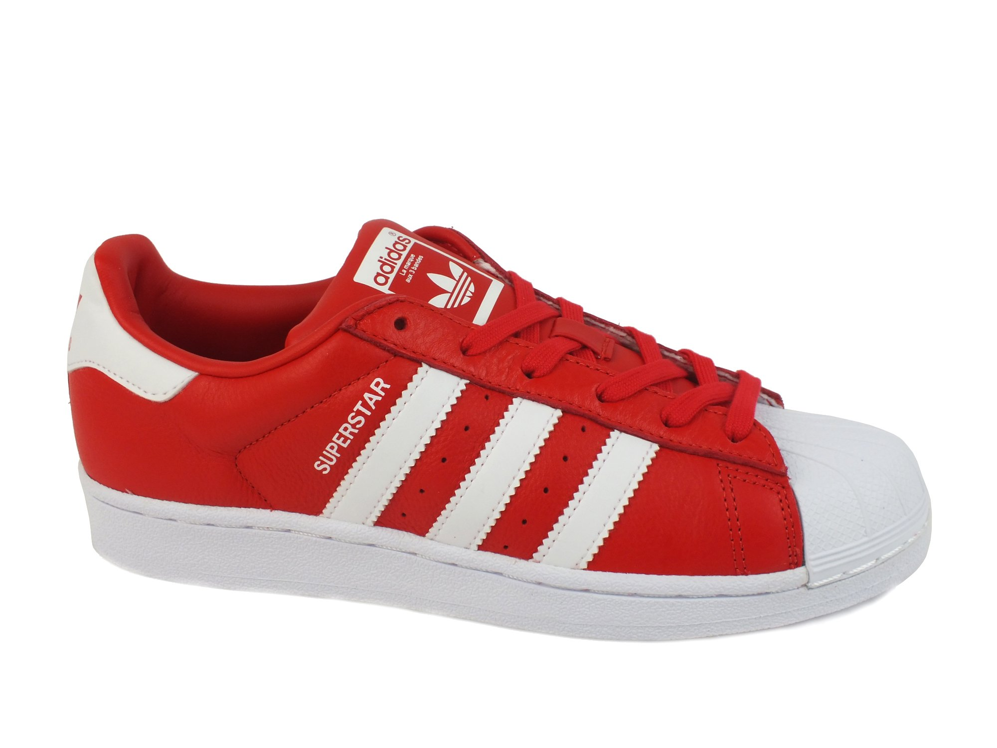 ADIDAS RED Superstar sneakers lacci adulto PELLE RED ADIDAS WHITE ROSSO BIANCO BB2240 ff1edf