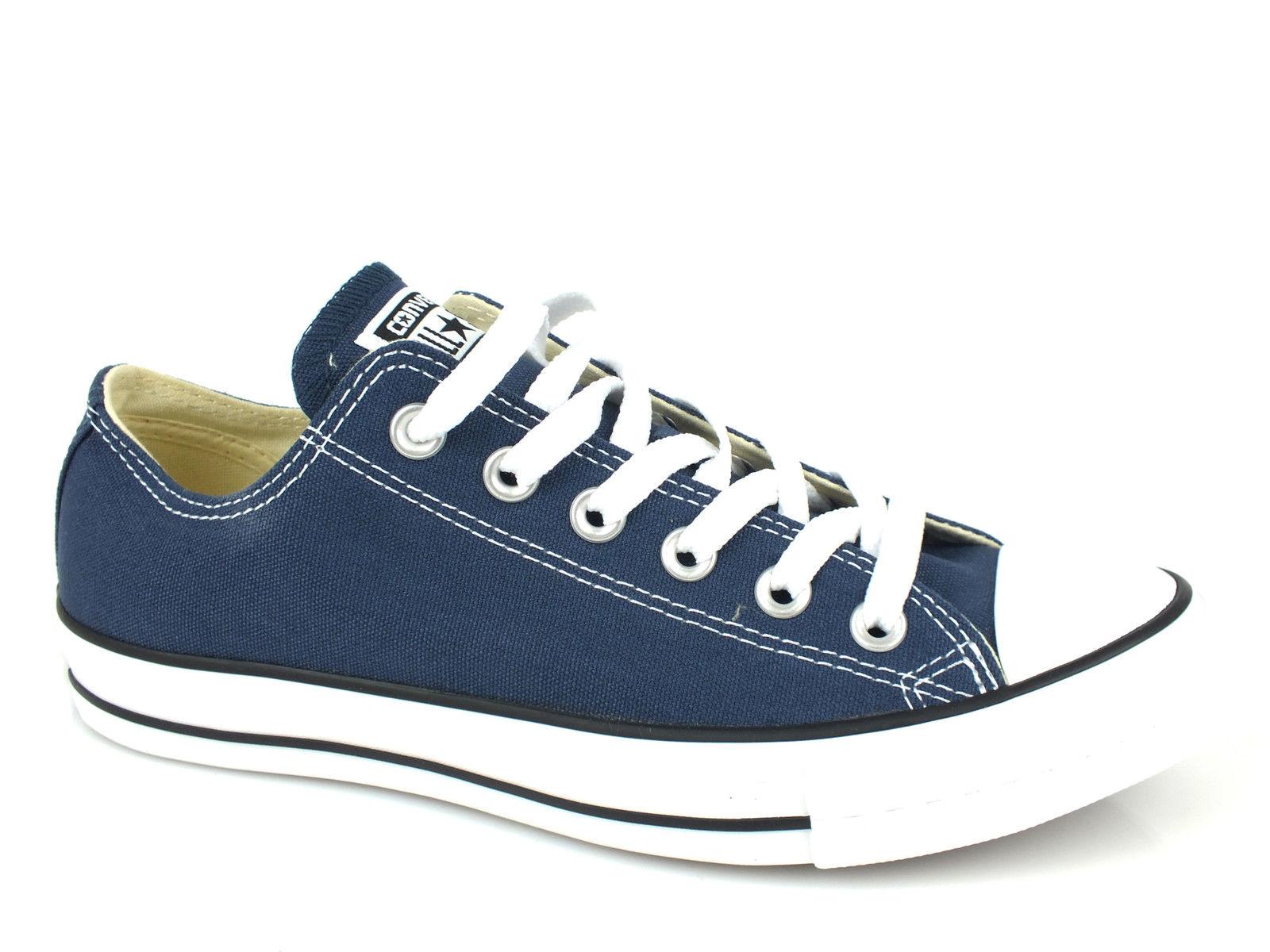 Zapatos promocionales para hombres y mujeres CONVERSE Chuck Taylor All Star Ox sneakers TESSUTO NAVY BLUE M9697C