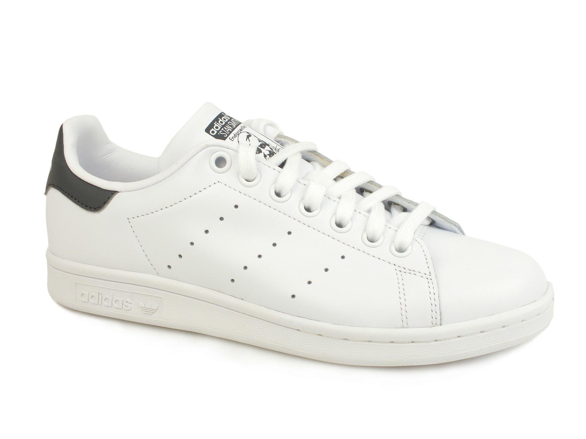 Caricamento dell'immagine in corso ADIDAS-Stan-Smith-Sneakers-Adulto-lacci -PELLE-WHITE-