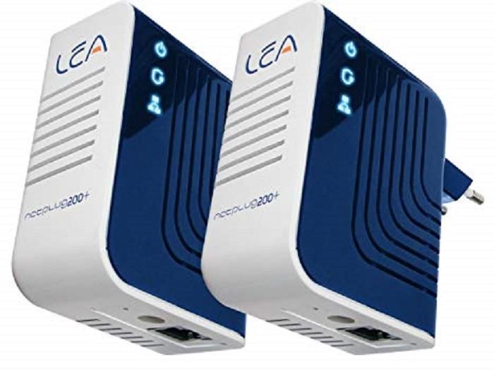POWERLINE NetPlug 200+ KIT 2 ADATTATORI 200 Mb/s RETE ELETTRICA IN RETE LAN ETHE