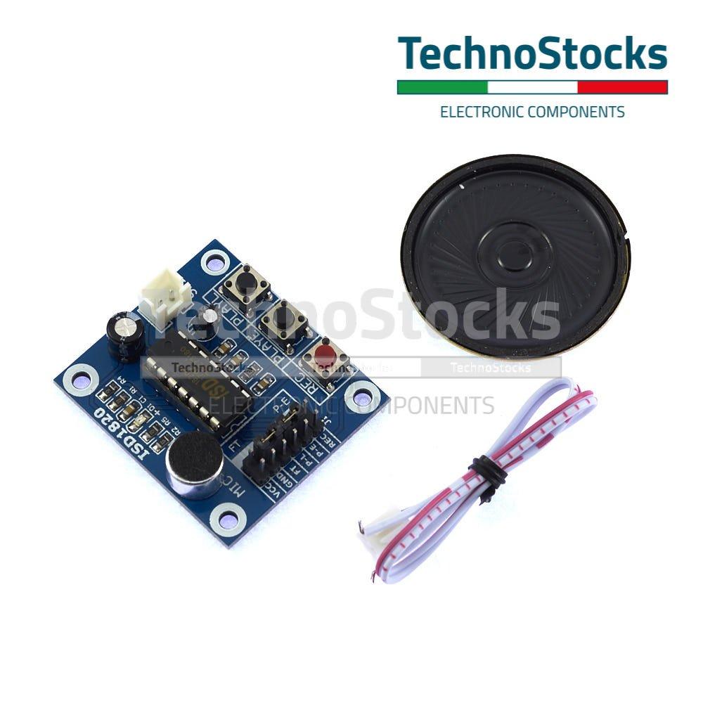 Modulo Vocale ISD1820 Registrazione Riproduzione - Arduino