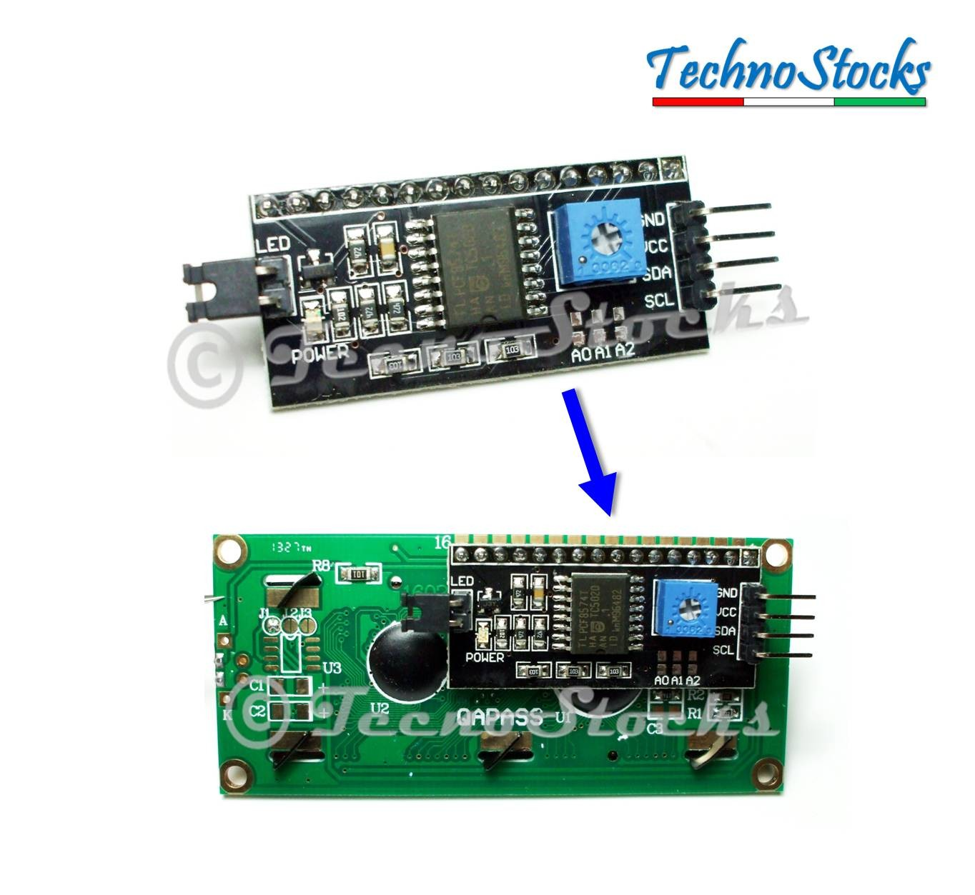 Convertitore seriale i c display lcd hd arduino pic