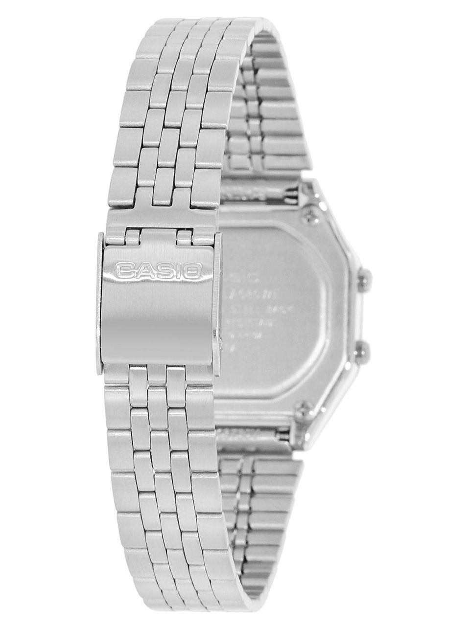 Orologio Originale Casio LA680WA-2C Donna Acciaio Luce Silver Sveglia Vintage 4