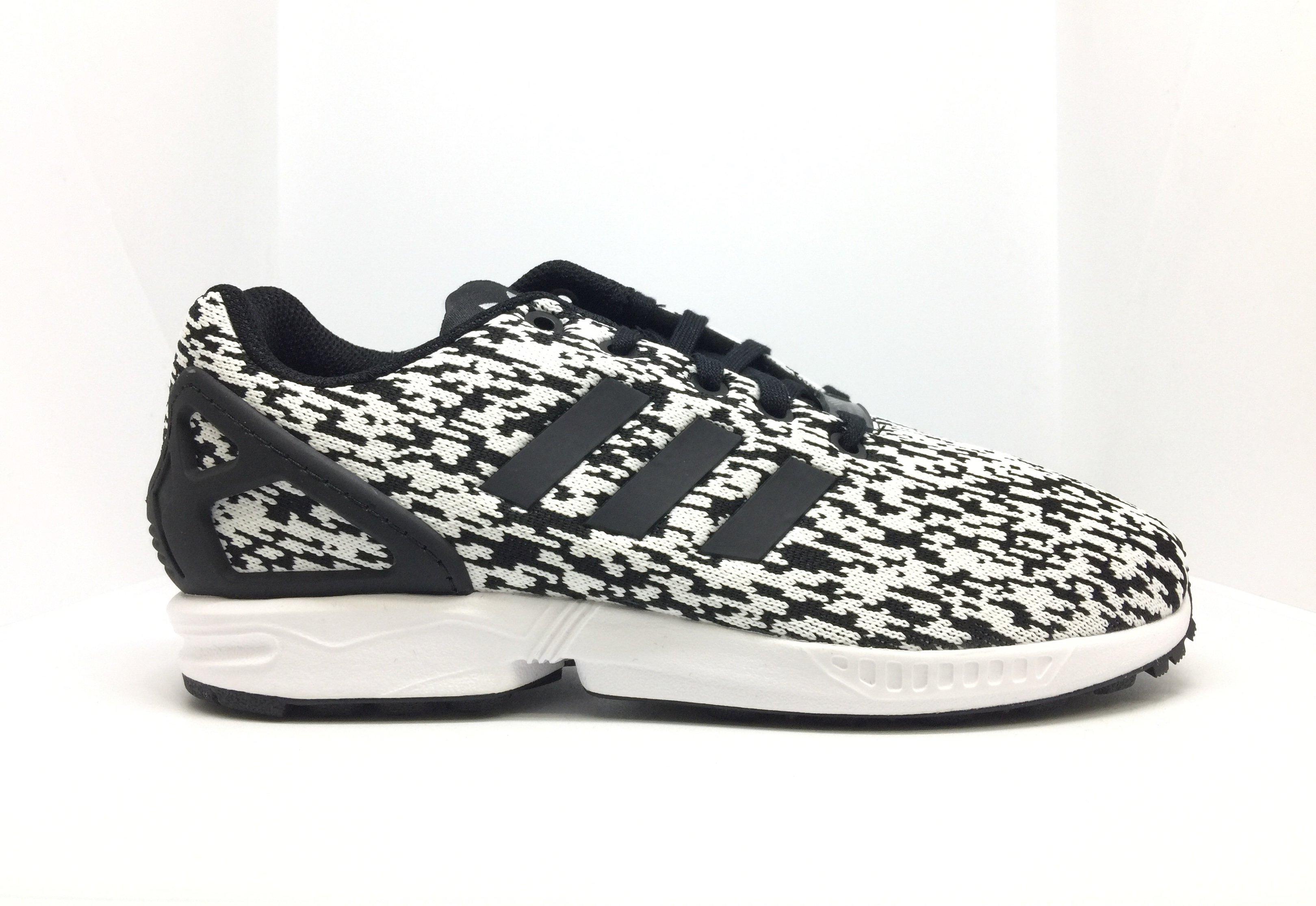 size 40 ffcb2 e42ec ADIDAS ZX FLUX J Scarpe da Donna Sneaker Scarpe Da Ginnastica Originals  Nero Bianco by9829