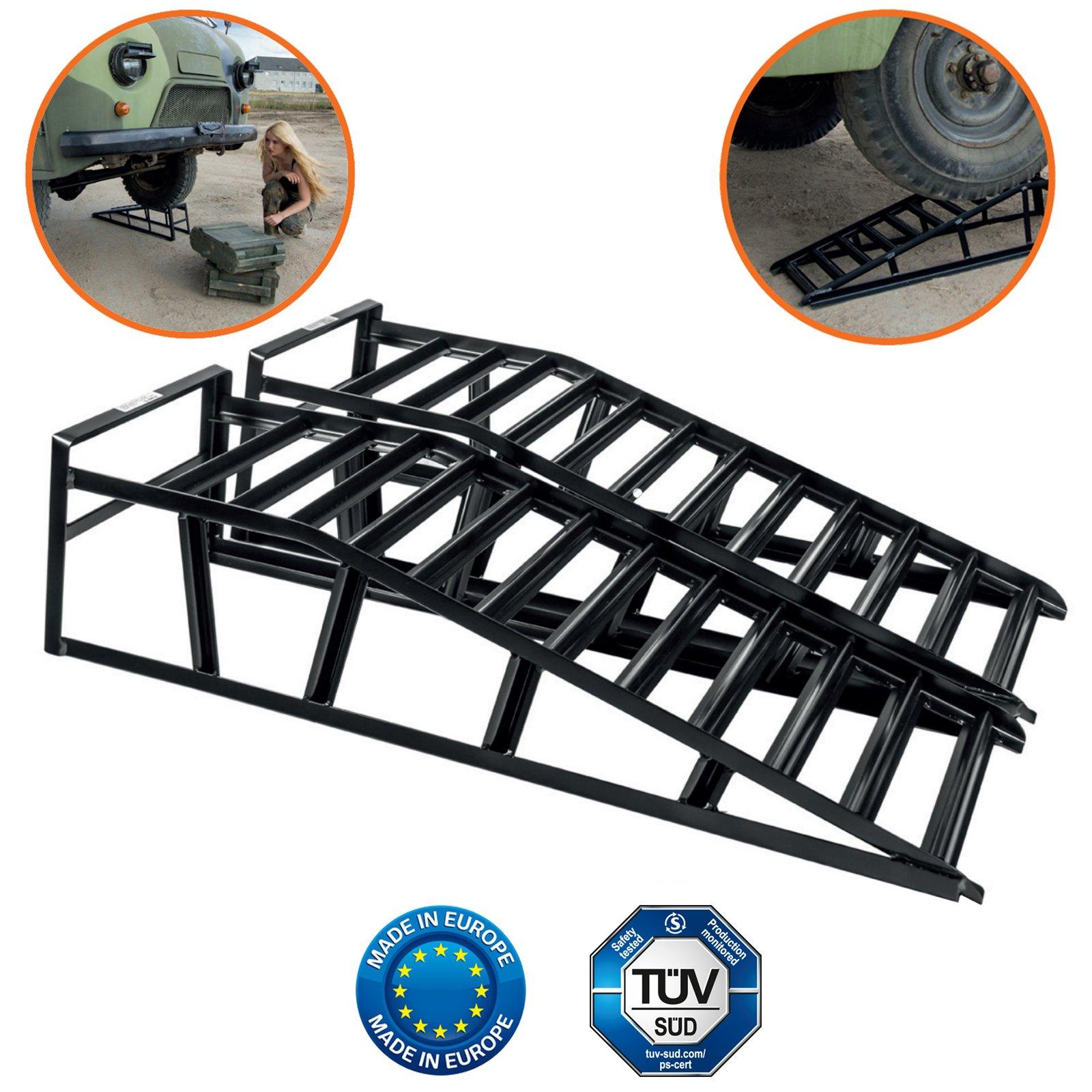 Set kit 2 pz rampe pedane per sollevamento auto officina for Rampe sollevamento auto