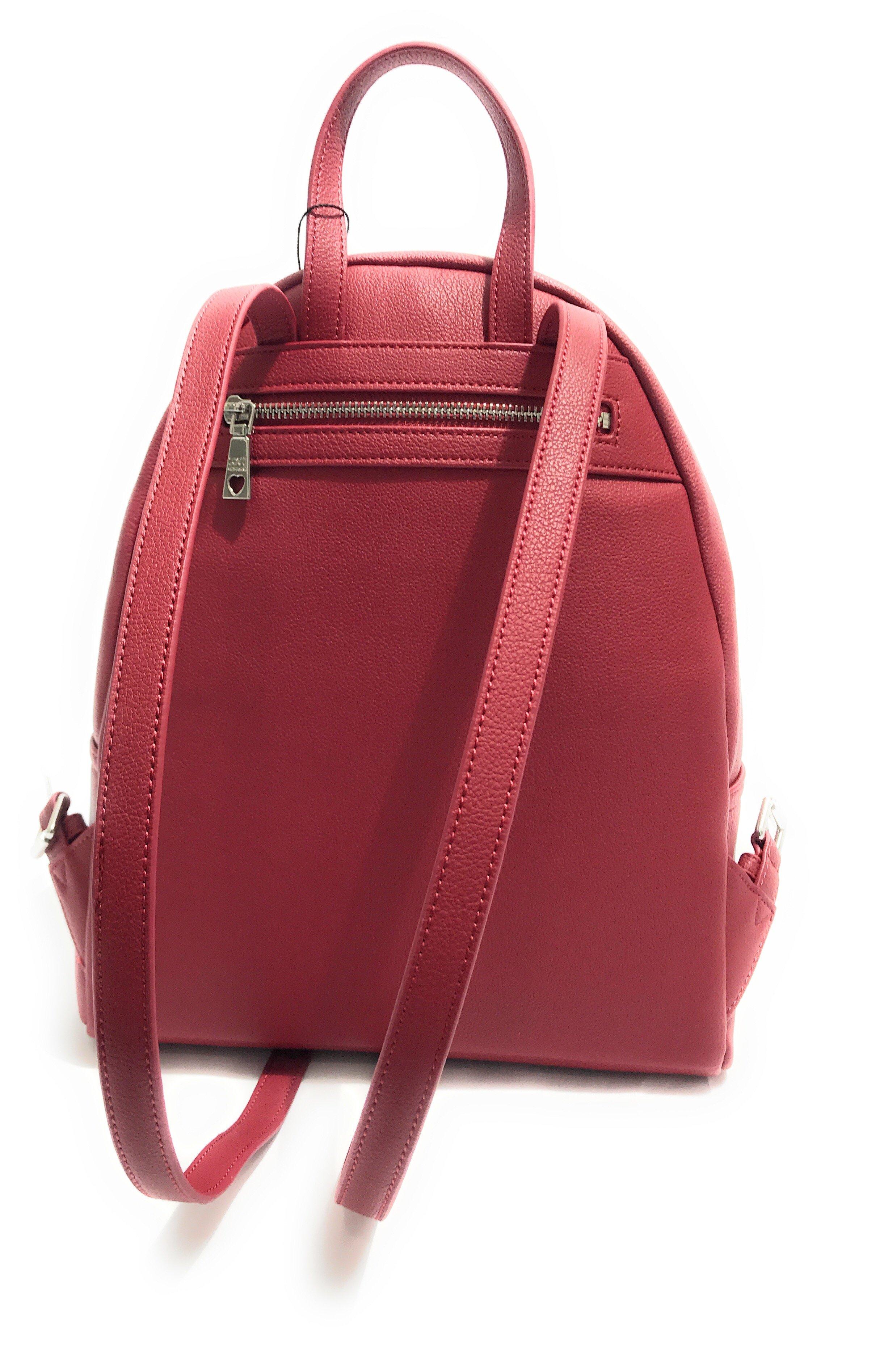 Borsa Donna Love Moschino Zaino Small Grain Colore Rosso Bs18Mo112 3 3 di 5  ... 6c22e4c49db