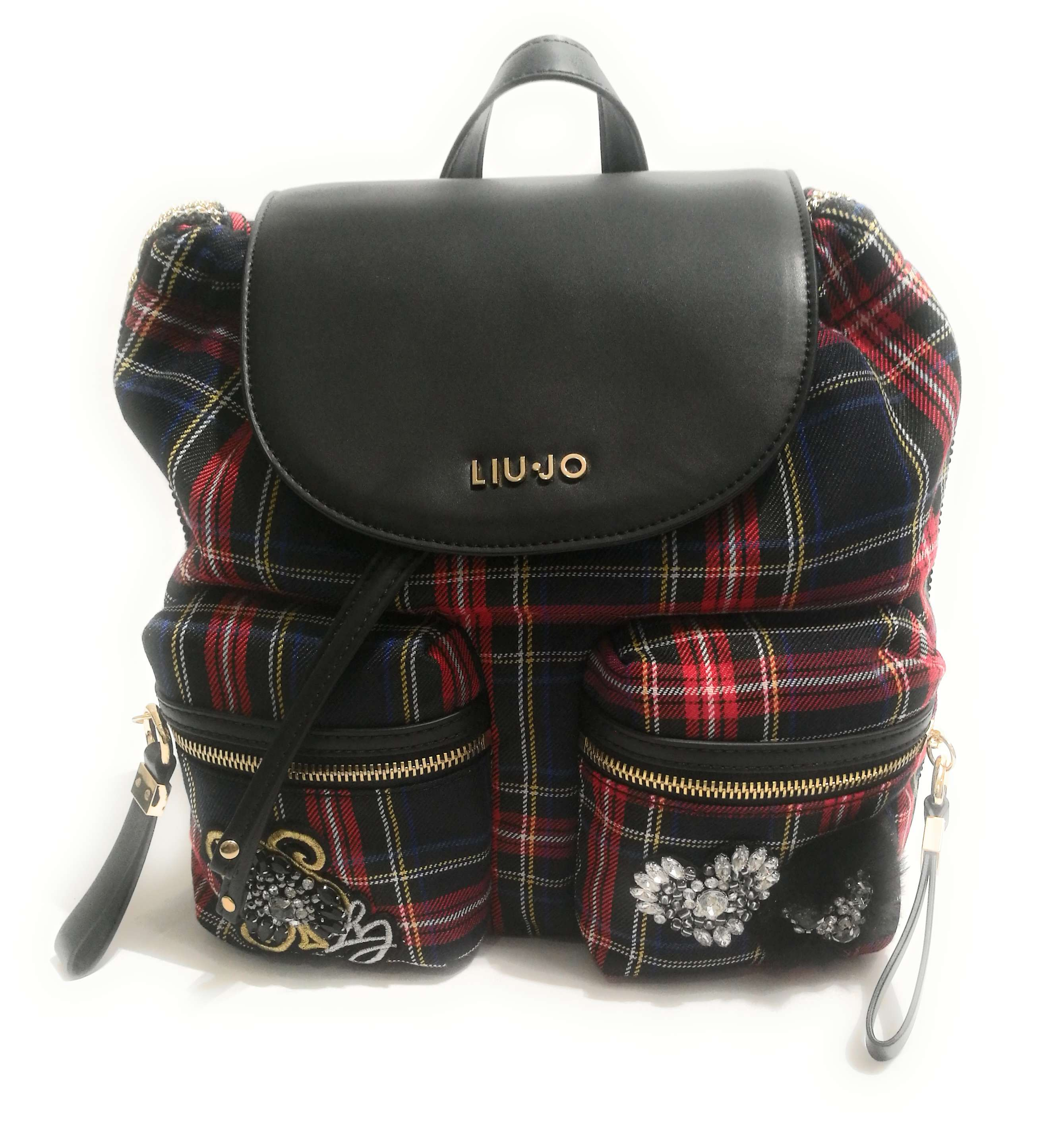 ZAINO LIU-JO BRENTA Checkered Tartan Backpack Medium Donna B19Lj54 ... 4116b1104de