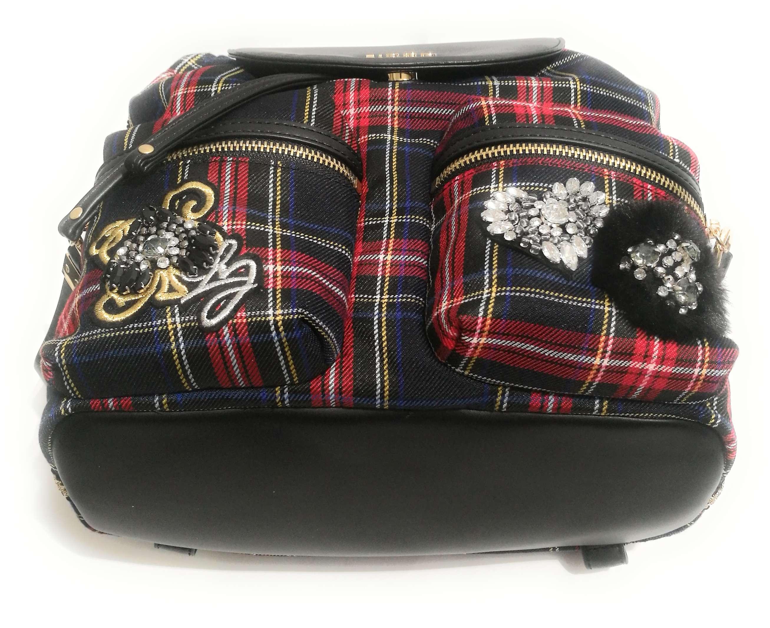 Zaino Liu-Jo Brenta Checkered Tartan Backpack Medium Donna B19Lj54 4 4 di 4  Vedi Altro c78f2ed6e8b