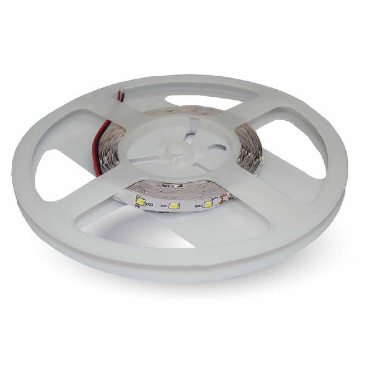 Striscia-600-led-Monocolore-12V-bobina-5-mt-7-2W-m-V-TAC-VT-3528-NON-WP