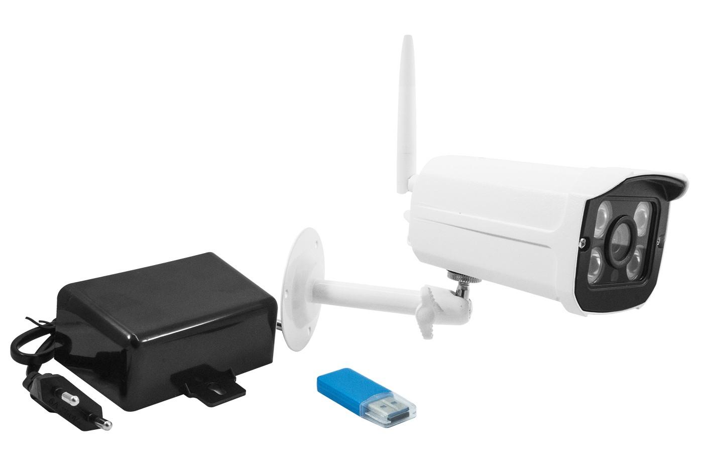 Telecamera Ip Camera Wi-fi HD P2P 4 Led Infrarossi SD Per Esterno IP66