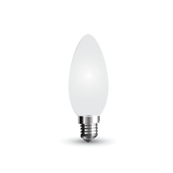 Details about led bulb 4W candle frost cross glass clear V-TAC E14 VT-1924