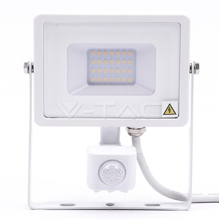 Faretto led bianco con sensore di movimento chip Samsung 20W V-TAC PRO VT-20-S-W