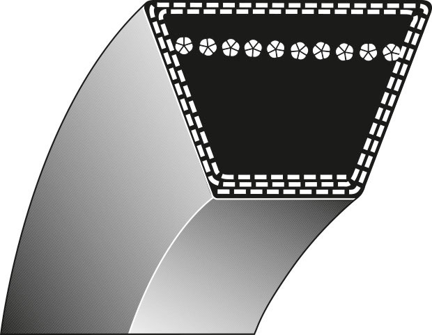 Cinghia trapezoidale rasaerba 8-305 HONDA 15,8x1668mm 76181-750-013 HT3810