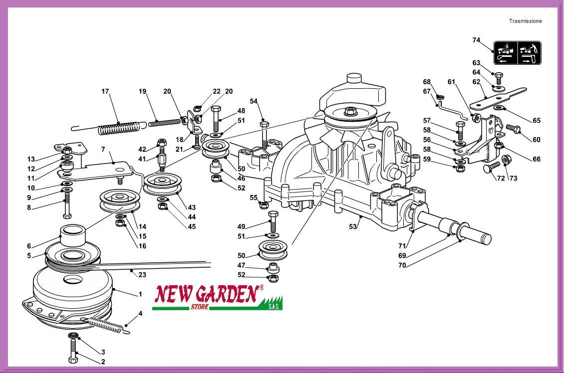 transmission exploded view mower 92cm pg 135 hd. Black Bedroom Furniture Sets. Home Design Ideas