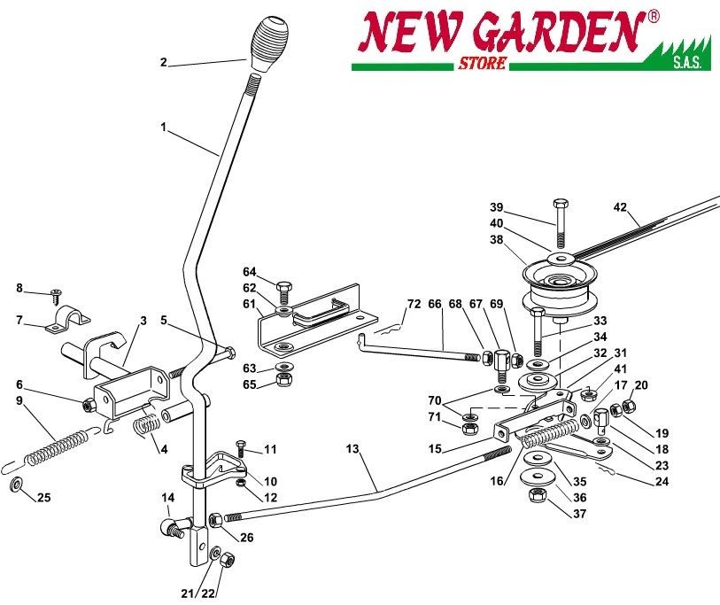 Transmission Exploded View Mower Lawn EL63 XE80VD Castelgarden 2012-13ricambi