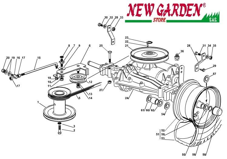 vue en clat transmission 72 cm xf140 tracteur tondeuse. Black Bedroom Furniture Sets. Home Design Ideas