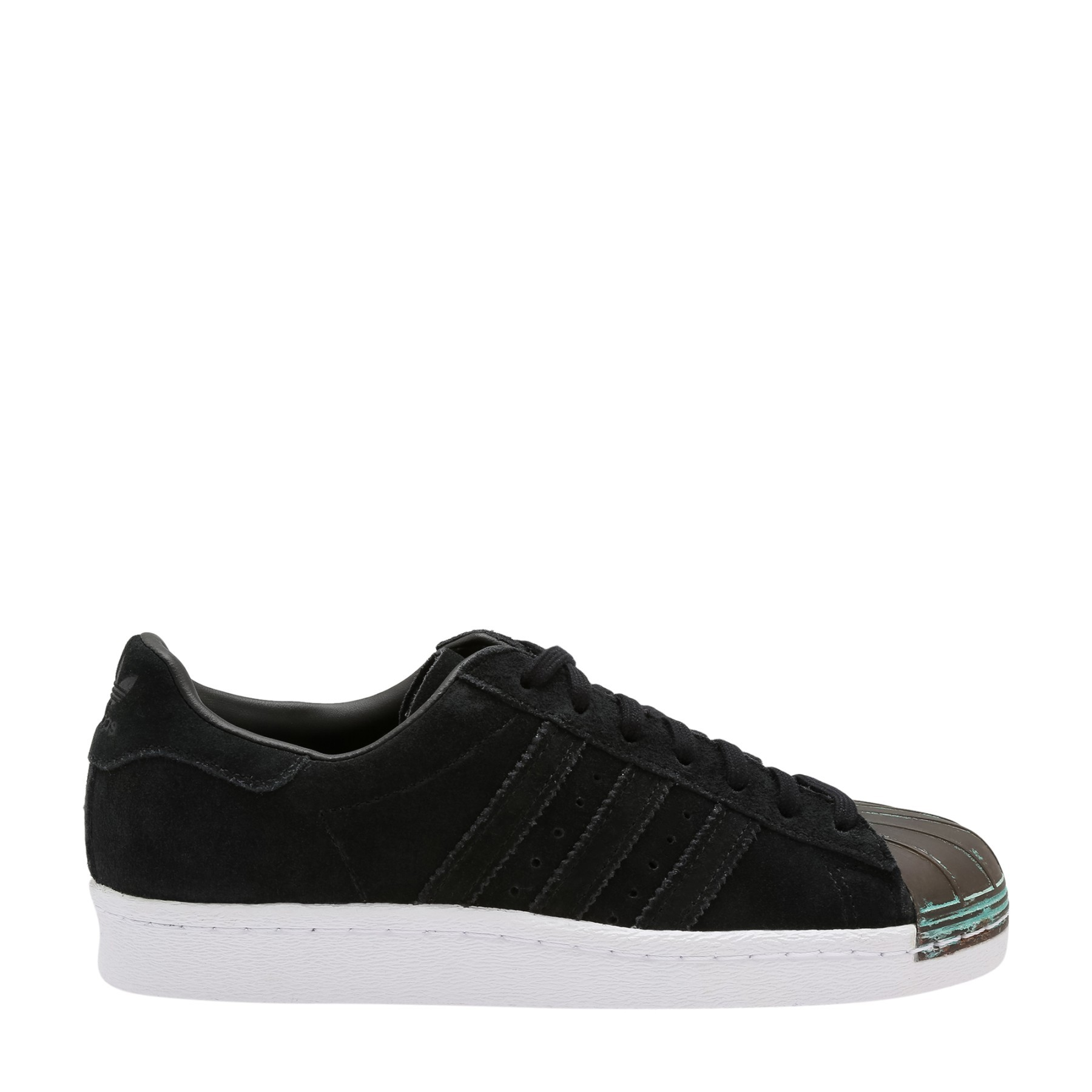 Scarpe donna sneakers ADIDAS SUPERSTAR 80S MT in camoscio nero CQ3106