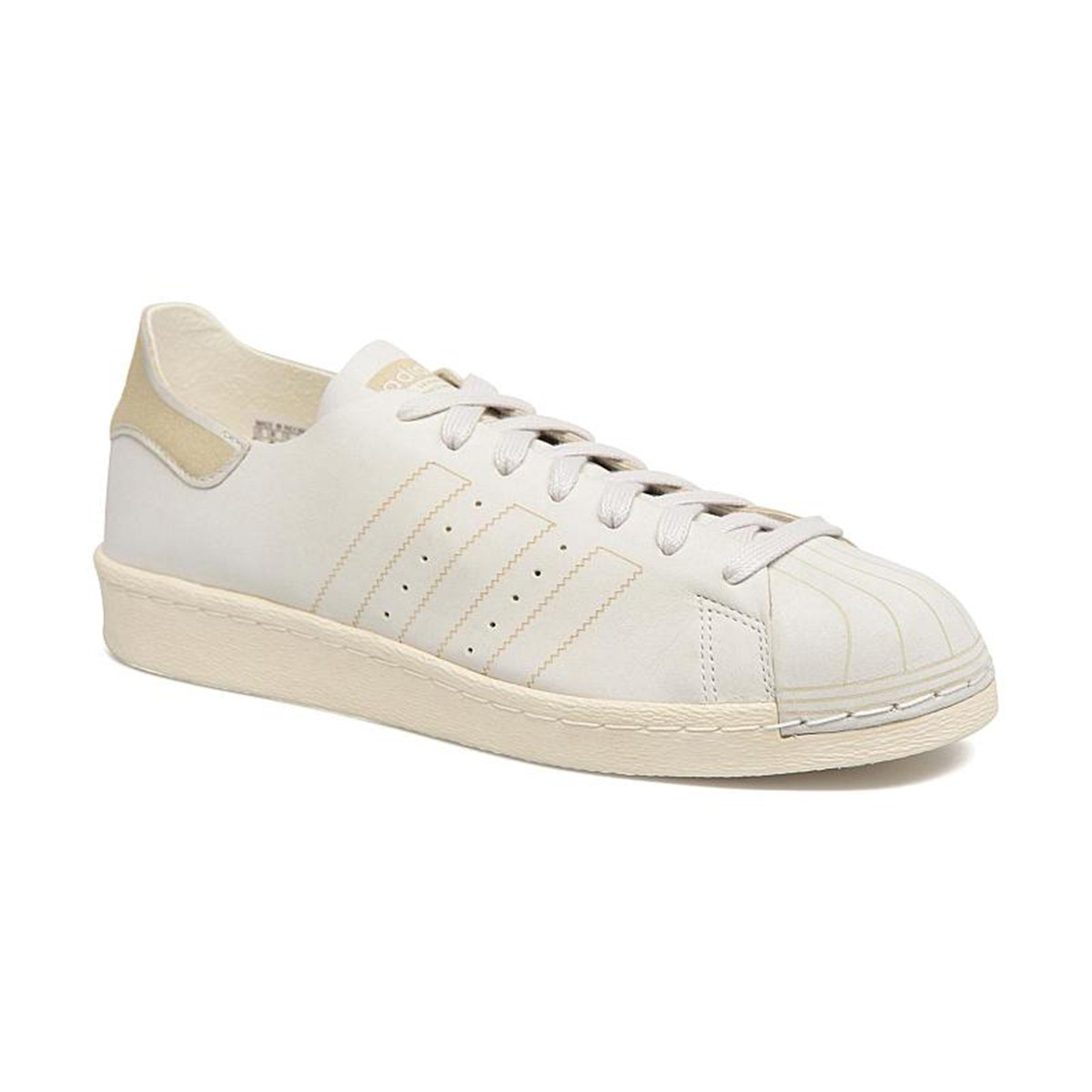 Scarpe uomo sneakers ADIDAS SUPERSTAR 80S DECON in pelle bianca CQ2210