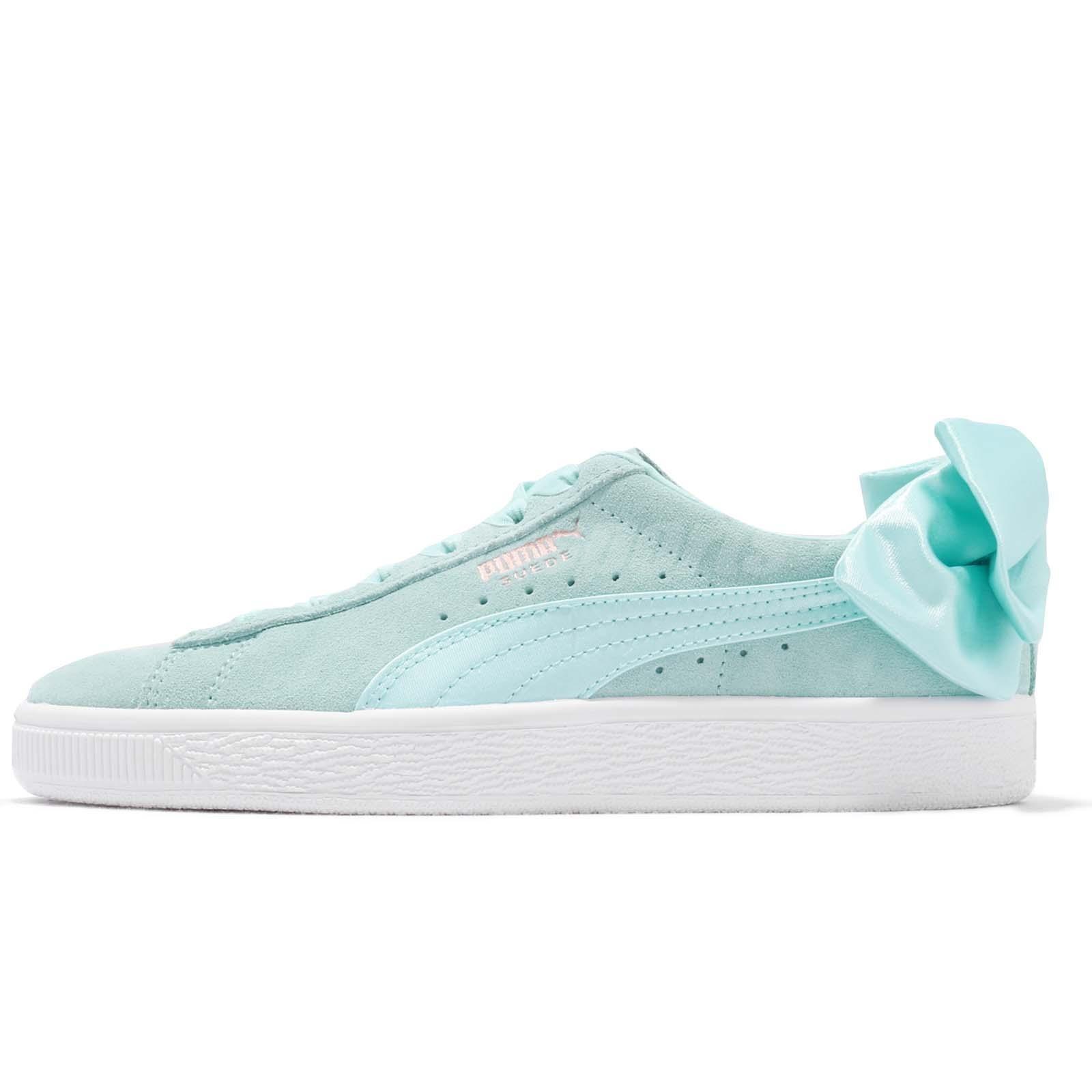 Scarpe donna sneakers PUMA SUEDE BOW WN'S in camoscio verde 367317 03