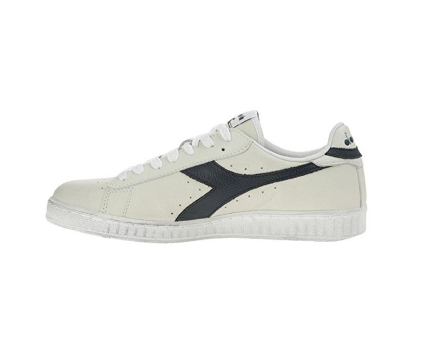 Scarpe uomo sneakers DIADORA GAME L LOW WAXED in pelle bianca  501.160821-C5262 d5281e1c4ce