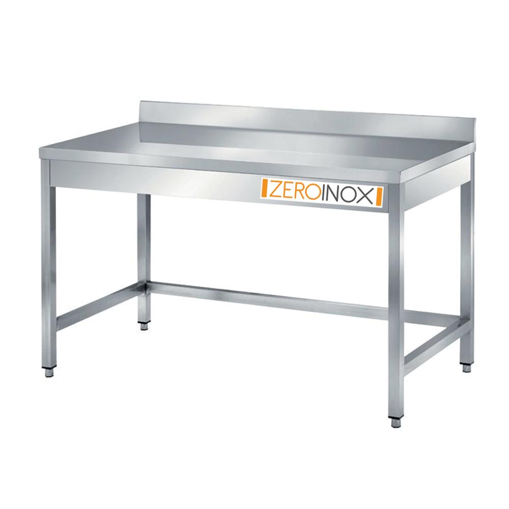 Tavolo in Acciaio INOX con Alzatina cm 80x60x85, AISI304 ...