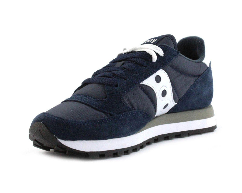 Scarpe casual da uomo  Scarpe uomo sneakers SAUCONY JAZZ in tela navy e bianco JAZZ-S2044-316